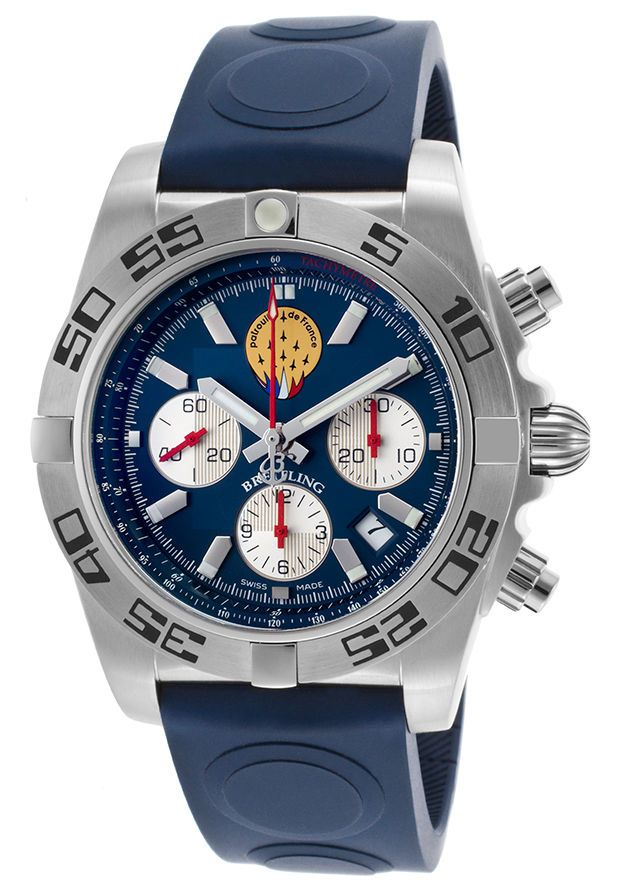 Breitling chronomat 44 patrouille de france automatic gents watch ab01109e c886 limited edition for Watches of france