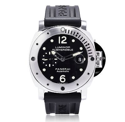 dial steel swiss xi pam watches luminor black replica op panerai marina stainless zf