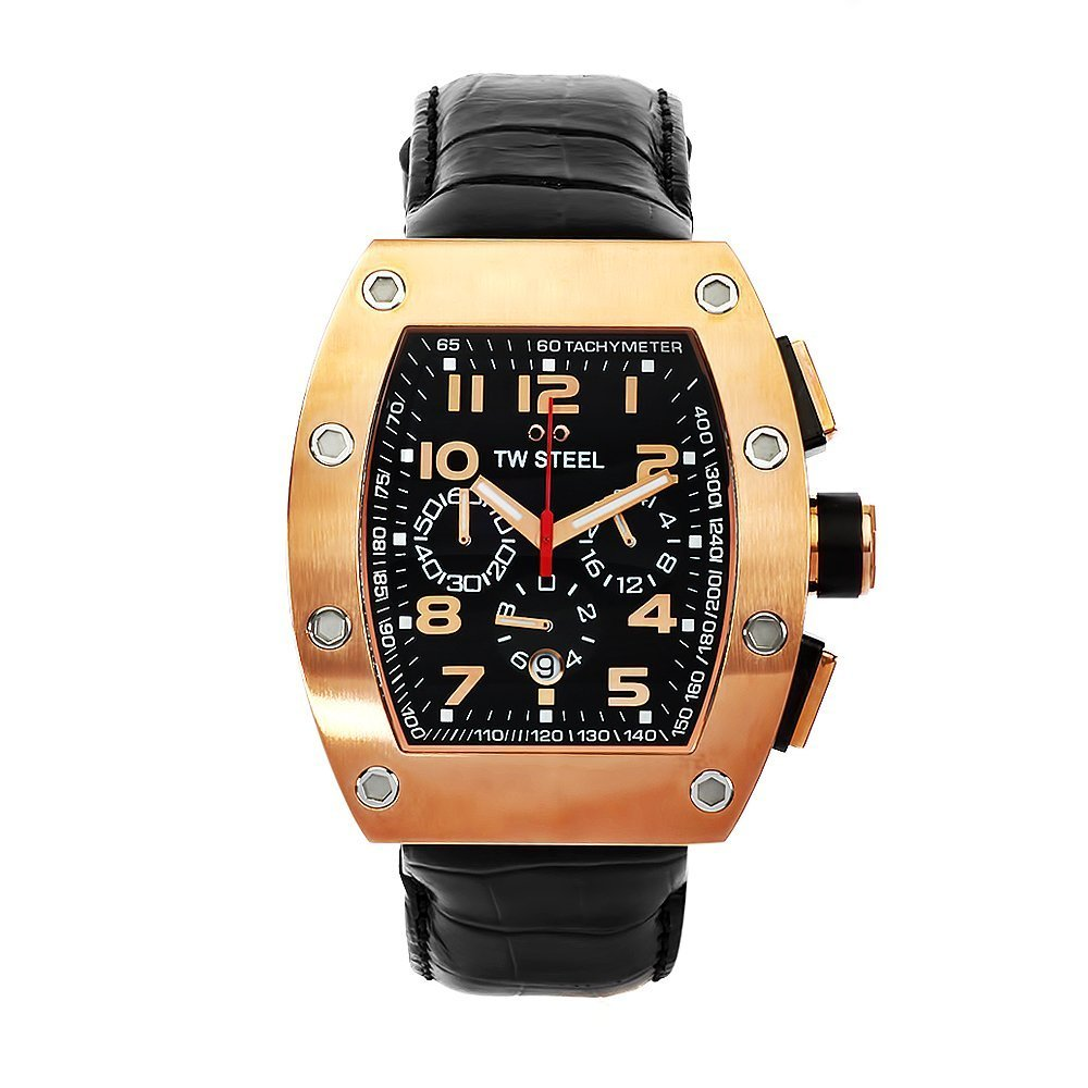 TW STEEL CEO Tonneau Rose Gold Chronograph Gents Watch CE2004