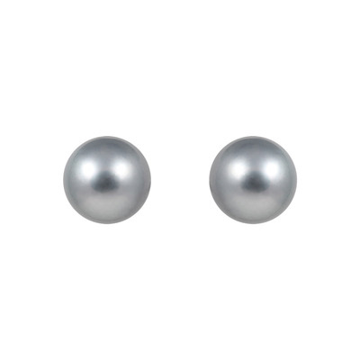 12-12.5mm Tahitian Grey Pearl 18ct White Gold Stud Earrings