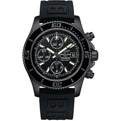 BREITLING Superocean Chronograph II Blacksteel Automatic Gents Watch M13341B7/BD11/152S