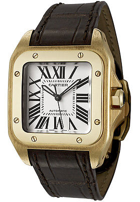 CARTIER Santos 100 Solid Gold Automatic Watch W20112Y1