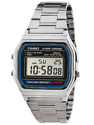 CASIO Classic Digital Alarm Chrono RETRO Gents Watch A158WA-1