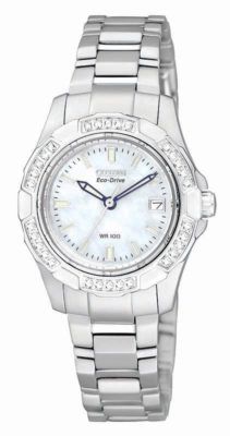 CITIZEN Eco-Drive Aviara Diamond Ladies Watch EW1370-52D