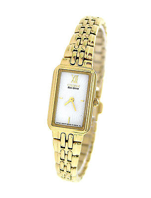 CITIZEN Sihouette Eco-Drive Gold Ladies Watch EG2822-51A