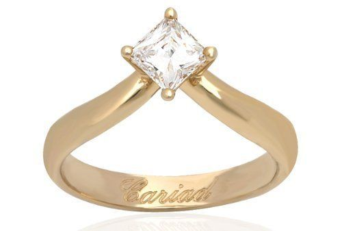 CLOGAU GOLD Make a Wish Yellow Gold & Diamond Engagement Ring Size N ENG5TPY