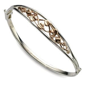 CLOGAU GOLD Tree of Life Bangle Silver & Rose Gold STLB