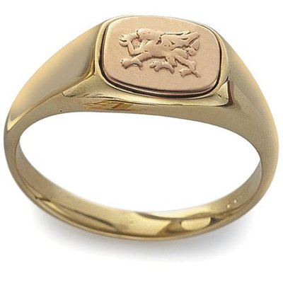 CLOGAU GOLD Welsh Dragon Signet Ring 9ct Gold CMG80