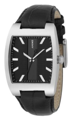DKNY NY1424 Black Dial & Leather Gents Watch