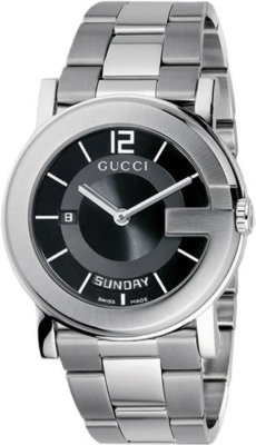 GUCCI 101 G Day & Date Gents Dress Watch YA101305