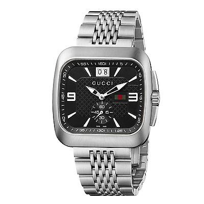 GUCCI Coupe Steel & Black Dial Gents Watch YA131305