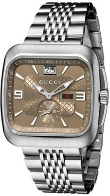 GUCCI Coupe Steel & Bronze Gents Watch YA131301