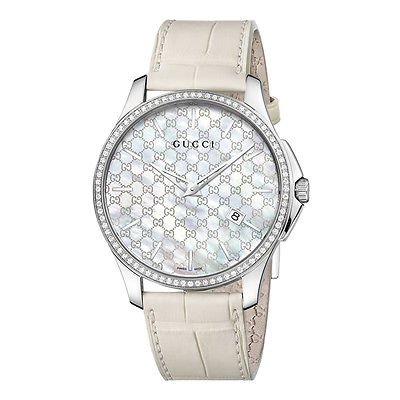 GUCCI G-Timeless Slim 80 Diamond Ladies Watch YA126306