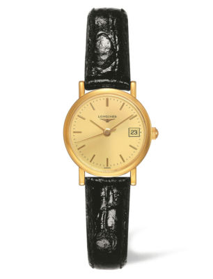 LONGINES Presence 18ct Gold Ladies Watch L4.277.6.32.2