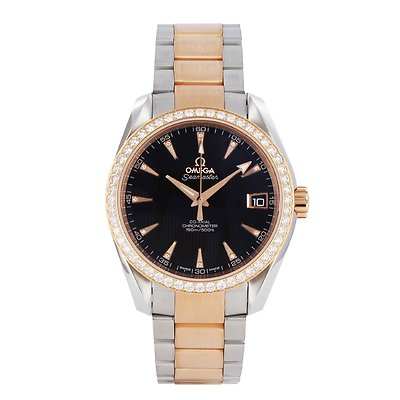 OMEGA Seamaster Aqua Terra 18ct Gold & Diamonds Ladies Watch 231.25.39.21.51.001