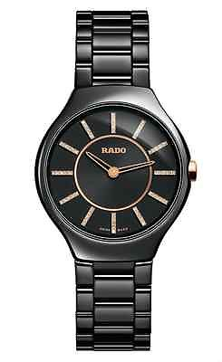 RADO True Thinline Black Jubile Ceramic Ladies Watch R27742702