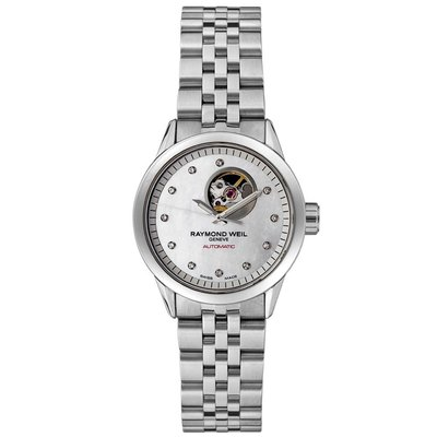 RAYMOND WEIL Freelancer 11 Diamond AUTO Ladies Watch 2410-ST-97081