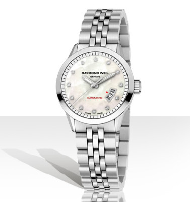 RAYMOND WEIL Freelancer 12 Diamond AUTO Ladies Watch 2430-ST-97081