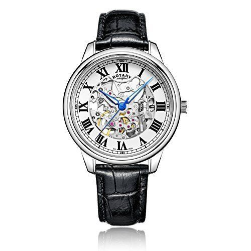 ROTARY AUTOMATIC Skeleton Gents Watch GS00654/01