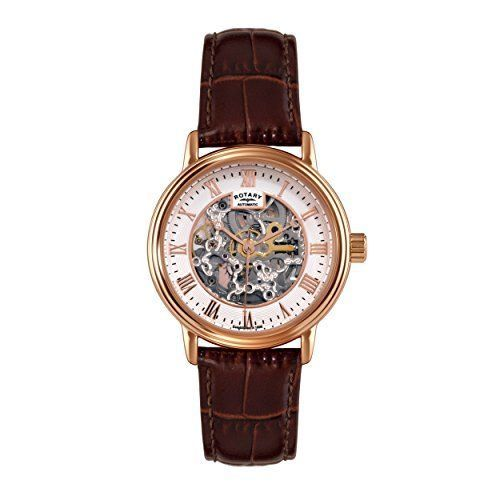 ROTARY Skeleton Rose Gold Automatic Gents Watch GS00310/01