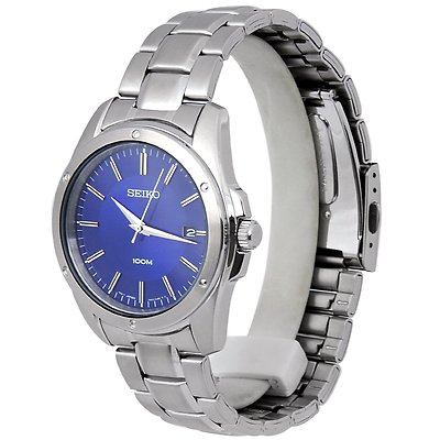 SEIKO 40mm Blue Dial Stainless Steel Gents Watch SGEF77P1