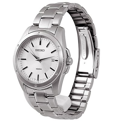 SEIKO 40mm Silver Dial Stainless Steel Gents Watch SGEF75P1