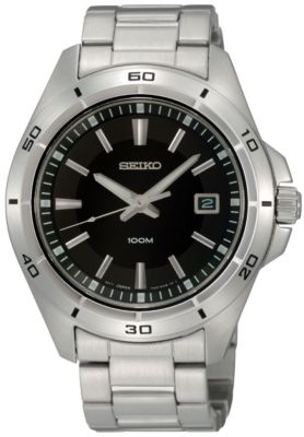 SEIKO Black Dial Gents Watch SGEE89P1