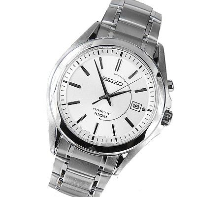 SEIKO Kinetic Stainless Steel Gents Watch SKA519P1
