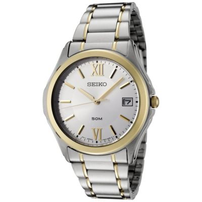 SEIKO Silver Two-Tone Gents Watch SGEF22P1