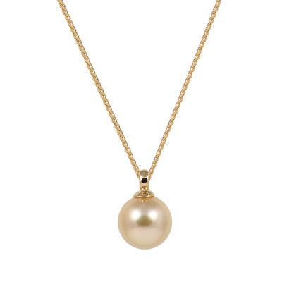 South Sea Gold Pearl (9-9.5mm) 18ct Yellow Gold Pendant