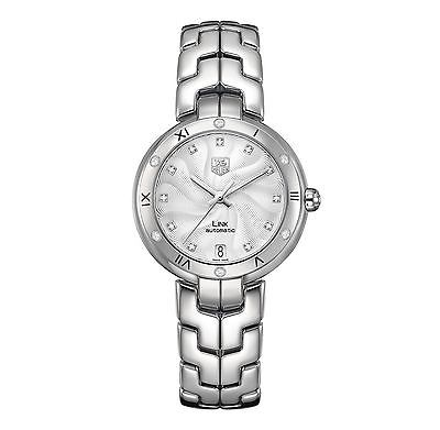 TAG HEUER Link Lady Diamond Dial & Bezel AUTOMATIC Ladies Watch WAT2312.BA0956