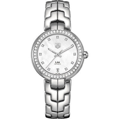 TAG HEUER Link Lady Diamond Dial & Bezel AUTOMATIC Ladies Watch WAT2314.BA0956