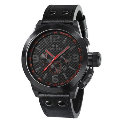 TW STEEL Canteen Cool Black 45mm Chronograph Gents Watch TW902