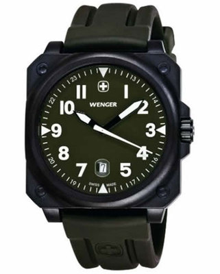 WENGER AeroGraph Cockpit NATO Green Gents Watch 72422